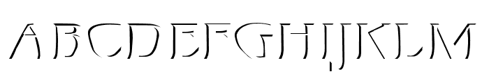 Mojacalo Relief Font UPPERCASE
