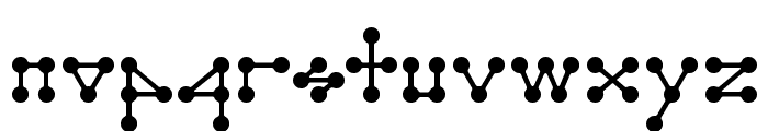 Molecule model Regular E. Font LOWERCASE