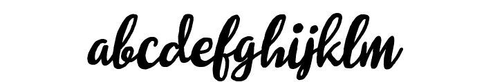 Molleat Italic Font LOWERCASE