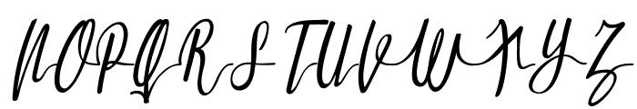 Molluca-Italic Font UPPERCASE
