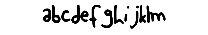 MollyWolly Font LOWERCASE