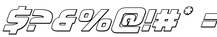 Moltors Outline Italic Font OTHER CHARS