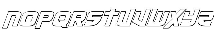 Moltors Outline Italic Font UPPERCASE