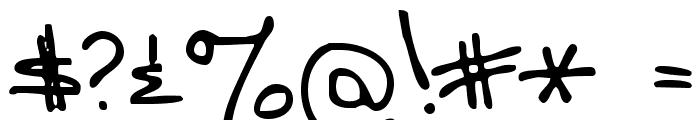 MomsFontYOFF Font OTHER CHARS