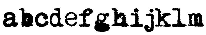 Mom?sTypewriter Font LOWERCASE