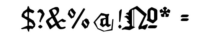 MonAmourFraktur-Broken Font OTHER CHARS
