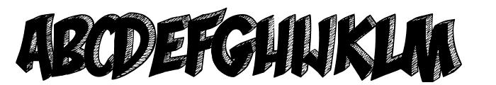 Mona Shark Font UPPERCASE