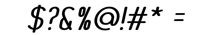 MonaBella Italic Font OTHER CHARS