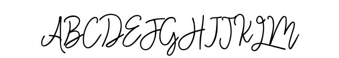 Monalisa Monoline Script Font UPPERCASE