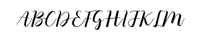 Monatia Regular Font UPPERCASE