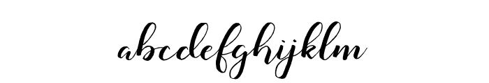 Monatia Regular Font LOWERCASE