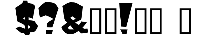 Mondo Bold Font OTHER CHARS