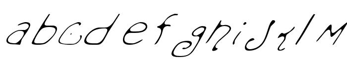 Mondo Messo Fonto Italic Font LOWERCASE