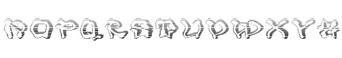 Mondrongo Gradient Font UPPERCASE