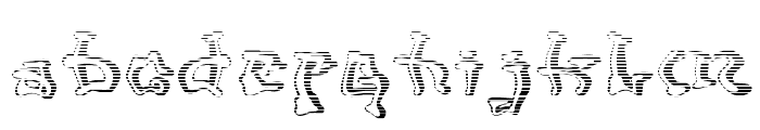 Mondrongo Gradient Font LOWERCASE