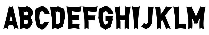 Monga Regular Font UPPERCASE