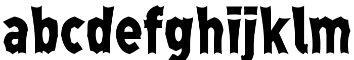 Monga Regular Font LOWERCASE