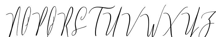 Monica Free Font UPPERCASE