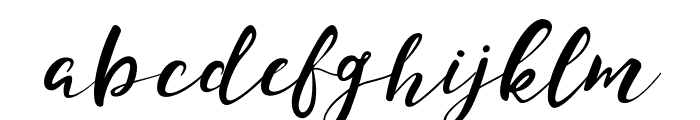 Monica Script Font LOWERCASE