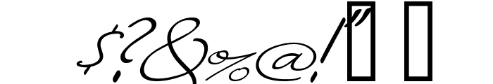 Monika Italic Font OTHER CHARS