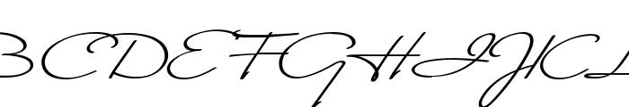 Monika Italic Font UPPERCASE