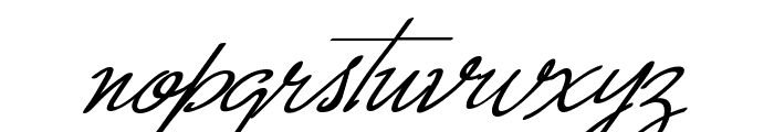Monika Italic Font LOWERCASE