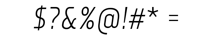 Monitorica-Italic Font OTHER CHARS