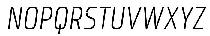 Monitorica-Italic Font UPPERCASE