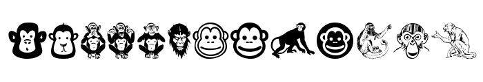 Monkey Business Font UPPERCASE