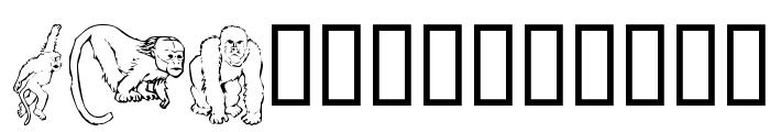 MonkeysDC Primates Font UPPERCASE