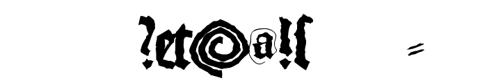 MonksWriting Font OTHER CHARS