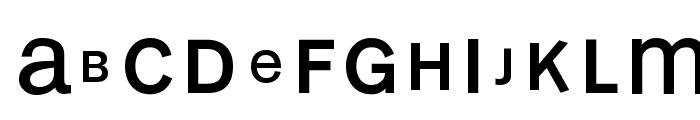 MonoAlphabetMultiSized Font LOWERCASE