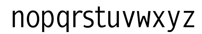 MonoSpatial Font LOWERCASE