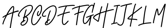 Monoline Signature Font UPPERCASE