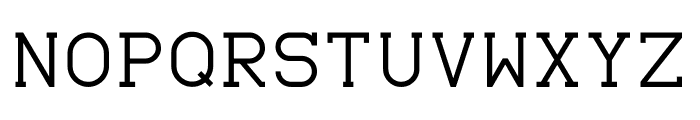 Monomod Font UPPERCASE