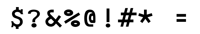 Monospace Bold Font OTHER CHARS