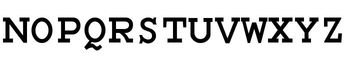 Monospace Bold Font UPPERCASE