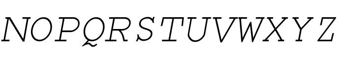 Monospace Oblique Font UPPERCASE
