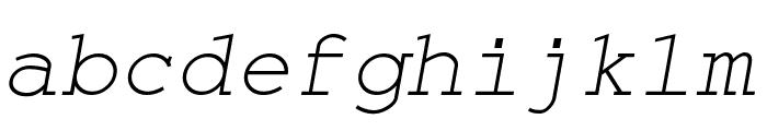 Monospace Oblique Font LOWERCASE