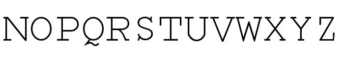 Monospace Regular Font UPPERCASE