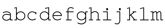 Monospace Regular Font LOWERCASE