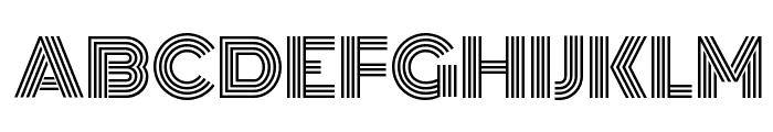 Monoton Font UPPERCASE