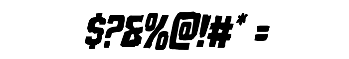 Monster Hunter Condensed Italic Font OTHER CHARS