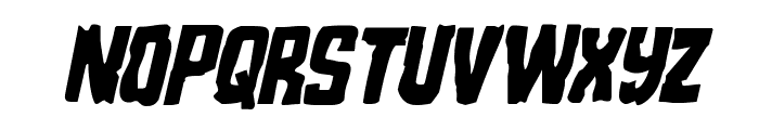 Monster Hunter Condensed Italic Font UPPERCASE