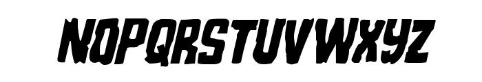 Monster Hunter Condensed Italic Font LOWERCASE