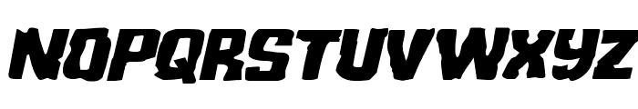Monster Hunter Expanded Italic Font UPPERCASE