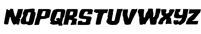 Monster Hunter Expanded Italic Font LOWERCASE