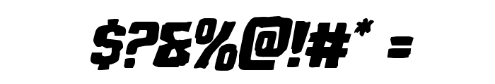Monster Hunter Staggered Italic Font OTHER CHARS