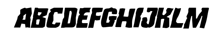 Monster Hunter Staggered Italic Font UPPERCASE