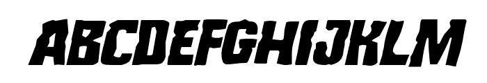 Monster Hunter Staggered Italic Font LOWERCASE